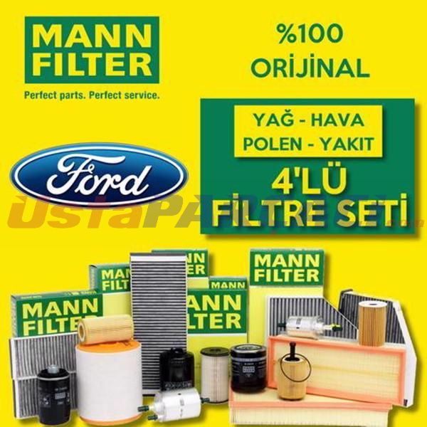 Ford Focus 1.6 Tdcı Mann-filter Filtre Bakım Seti (e5 2011-2015) UP468460 MANN