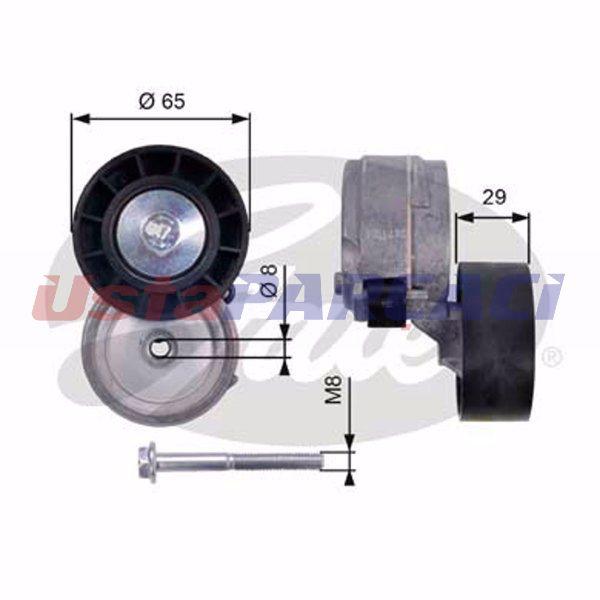 Fiat Doblo Cargo 1.9 D 2001-2019 Gates Alternatör Gergi Rulmanı GATES Marka