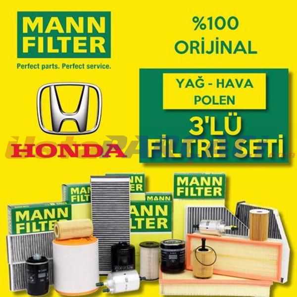 Honda Jazz 1.4 Mann-Filter Filtre Bakım Seti 2002-2008 L13A UP560403 MANN