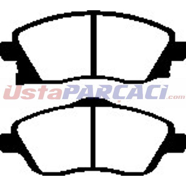 On Fren Balatası Corsa C - Combo C  1.0-.1.2-1.3 Cdtı-1.7dtı  00 BESER 3846 BEŞER