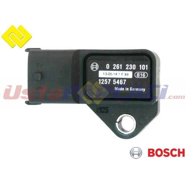 Map Sensoru  Emme Manıfold Basıncı  Corsa D Z10xep-z12xep-z14xep BOSCH 0261230101 BOSCH