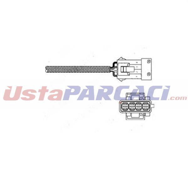 Oksijen Sensörü P206-p207-p307-p406-pıcasso-c2-c3-c4-berlıngo-xsara-scudo-saxo 1.4-1.6 1618.48-1628.CW-1628.HR-96229974 KMP1 DELPHI ES10795-12B1 DELPHI
