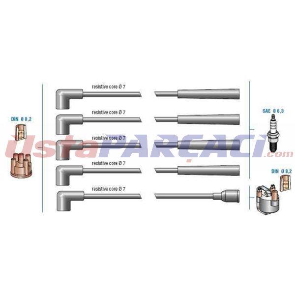 Bujı Kablo Setı Mazda 323 1,6-1,3 Kıa Sephıa 1,6 ZX1918140 8BBG18140 8BBG18140 DODUCO 7873 DODUCO
