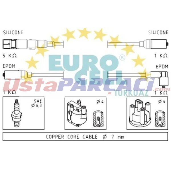 Bujı Kablosu Passat 1,6 8v 96-00 Adp 11544050110003  EUROCELL BK 142