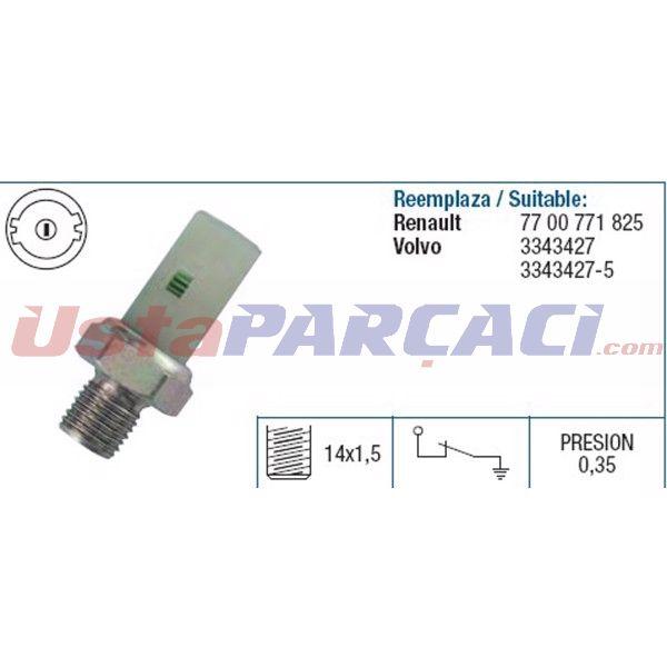 YAG MUSURU R9-R11 MEGANE I-II 1,2-1,4-1,6 (0,35 BAR) VOLVO FAE 12370 FAE