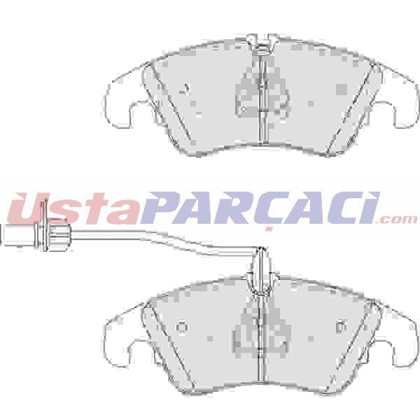 On Fren Balatası Fıslı A4-s4 Quattro 11 08-> A5-s5 Quattro 06 09->pr Numarası 1lj Icın FERODO FDB4044 FERODO