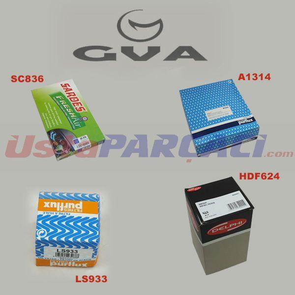 FİLTRE SETİ FLUENCE 1.5 DCİ 09=> K9K 830-832-836 BCS-152/BCS-334/BCS-336) GVA 8511560 GVA
