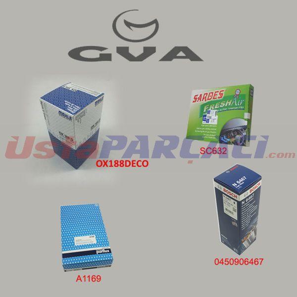 Filtre Seti Vw Transporter T5-multıvan T5 1.9tdı-2.0-2.5tdı 03> Axb Bcs-12   Bcs-145) GVA 8575750 GVA
