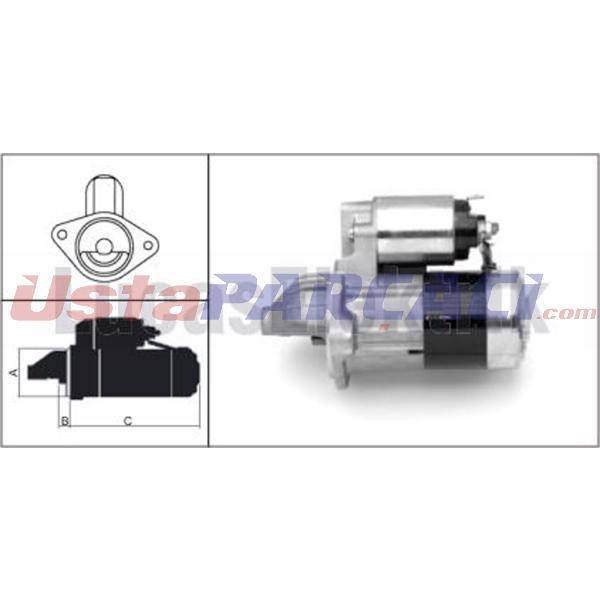 Mars Motoru 12v/1.4kw/11dıs Opel Astra F,vectra 1.7   LUCAS LES0102 LUCAS