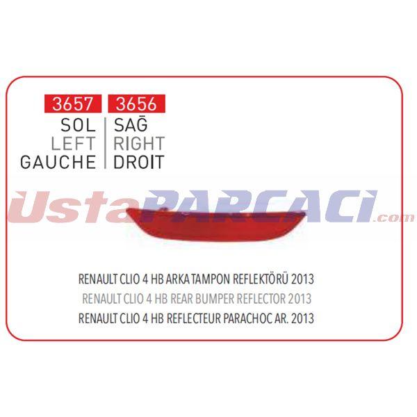 ARKA TAMPON REFLEKTORU SAG CLIO IV 03-> PLEKSAN 3656 PLEKSAN
