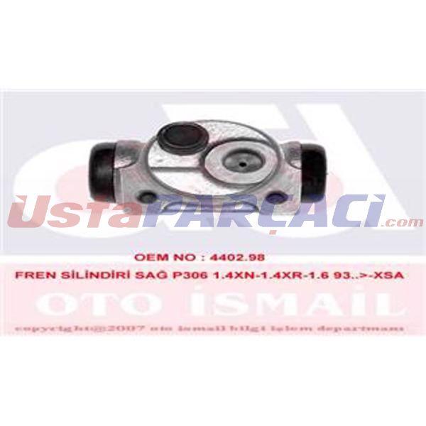 Fren Silindiri Sağ Xsara 97--> Abs Siz-zx 91-->p206-p306 1,4xn-1,4xr-1,6-1,8xt 93--> 20,60mm  TRW BWF167 TRW