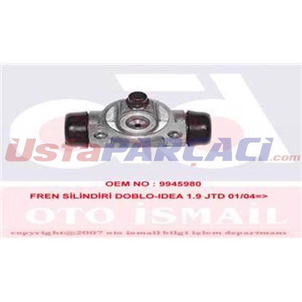FREN SILINDIRI IDEA 1,9 JTD 01/04--PANDA 1,1,1,2,1,3 JTD ABS SIZ ARACLAR ICIN 09/03 20,6mm  TRW BWF262 TRW
