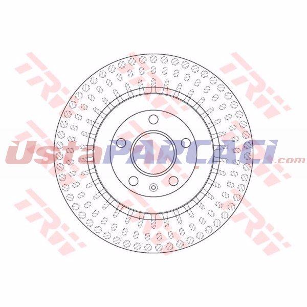 ARKA FREN AYNASI AUDI A4 A5 A6 A7 A8 Q5 MACAN (300X22MM) 08> TRW DF6175S TRW