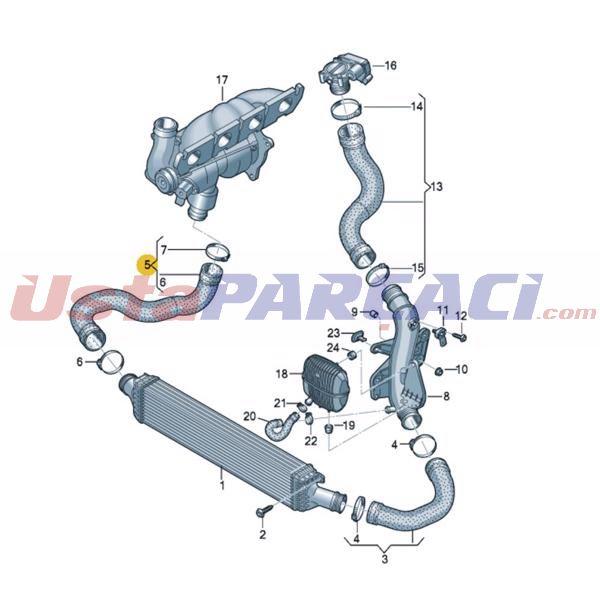 Turbo Hortumu A4,a5 2,0 D UCPA 23H142580 ÜCPA