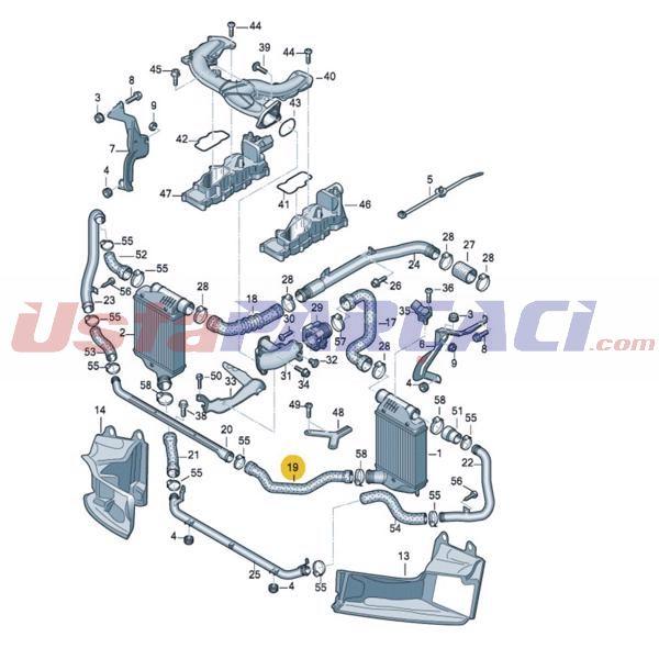 Turbo Hortumu A6 2,7d/3,0 D UCPA 23H142585 UCPA