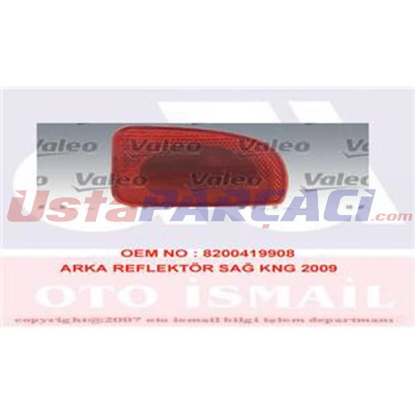 Arka Tampon Reflektörü Sağ Kng Iıı 08=> Mercedes Cıtan 12=> 8200419908 VALEO VALEO 043638 VALEO