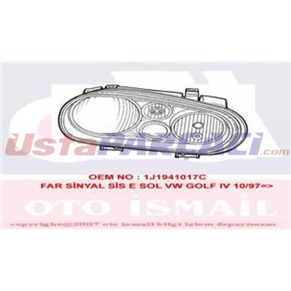 Far Sınyal Sıs E Sol Vw Golf Iv 10 97-> VALEO 086749 VALEO