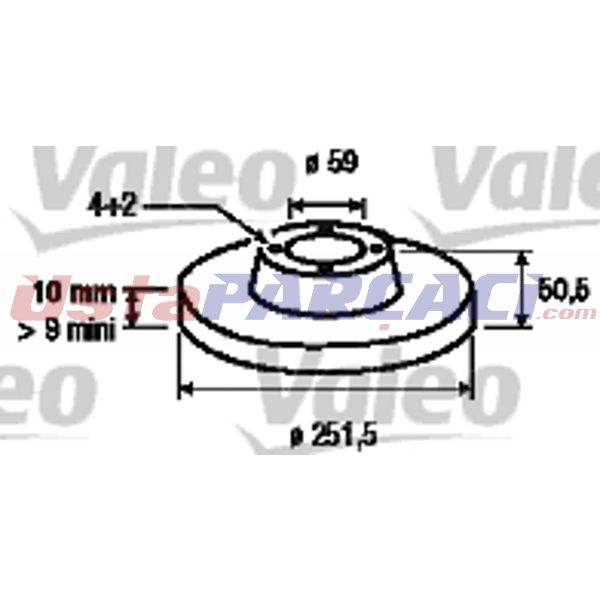 Arka Fren Aynası Alfa Romeo 164 2,0 93 Croma 1,6 1,9td 2,0i 2,0 16v 2,0td 2,5 V6 2,5td Stılo VALEO 186146 VALEO
