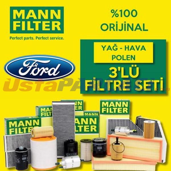 Ford Focus 1.6 Ti-vct Mann-filter Filtre Bakım Seti (2011-2015) UP463758 MANN