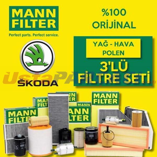 Skoda Superb 1.4 Tsı Mann-filter Filtre Bakım Seti (2009-2015) CAX UP463838 MANN