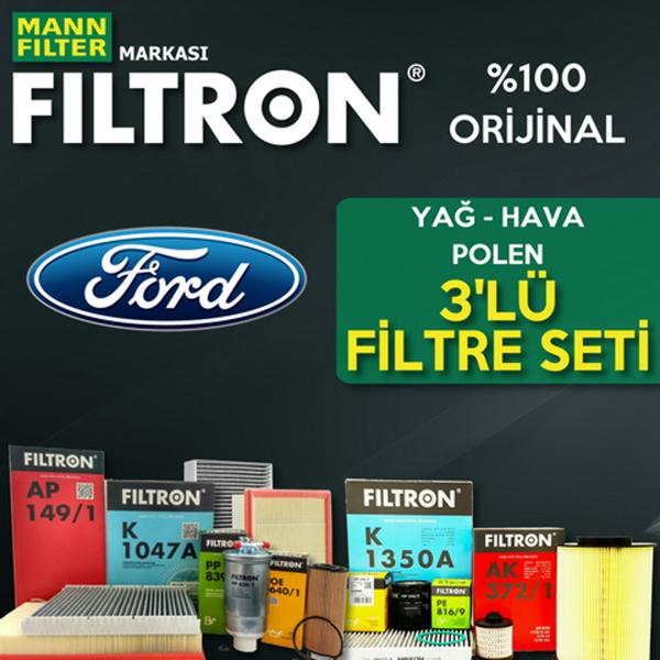 Ford Focus 1.6 Tdcı Filtron Filtre Bakım Seti (2007-2010) FILTRON Marka