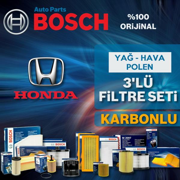 Honda Civic 1.6 Fb7 Bosch Karbonlu Filtre Bakım Seti 2013-2016 BOSCH Marka