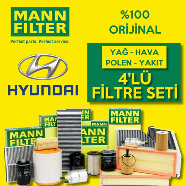 Hyundai Accent Era 1.5 Crdı Mann-filter Filtre Bakım Seti (2006-2012) MANN Marka