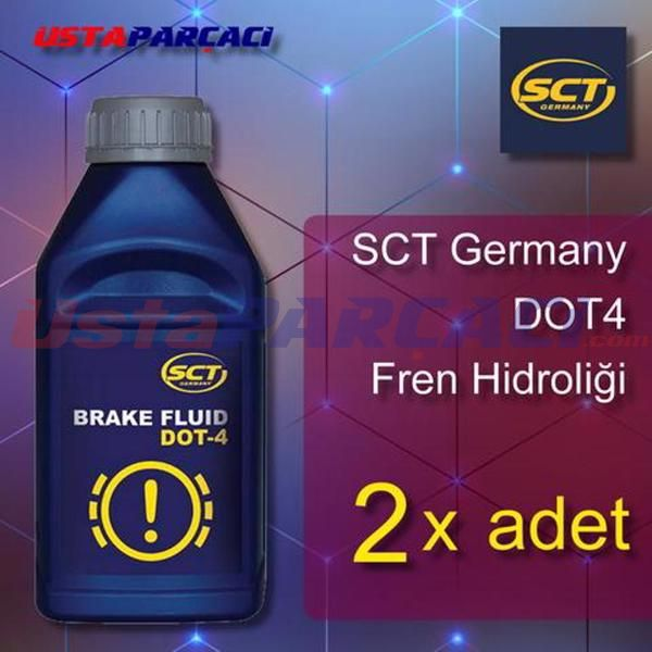 SCT Germany Fren Hidroliği (Brake Fluid DOT-4) DOT4 - 2 ADET UP482703 MANNOL