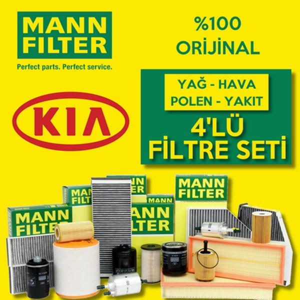 Kia Sorento 2.5 Crdı Mann-filter Filtre Bakım Seti (2003-2006) 140hp MANN Marka