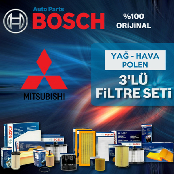 Mitsubishi Asx 1.6 Bosch Filtre Bakım Seti 2010-2015 BOSCH Marka