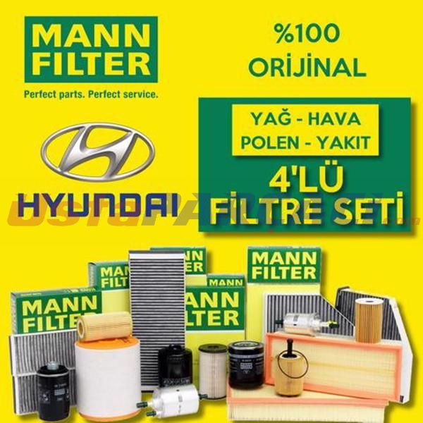 Hyundai Accent Blue 1.6 Crdı Mann-filter Filtre Bakım Seti (2011-2016) UP463674 MANN