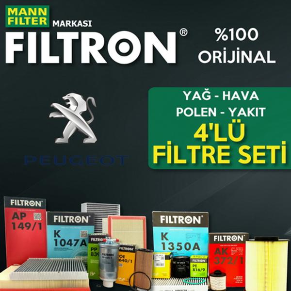 Peugeot 206 1.4 Filtron Filtre Bakım Seti 1998-2009 FILTRON Marka