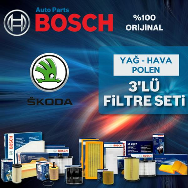 Skoda Roomster 1.2 Bosch Filtre Bakım Seti 2010-2013 BOSCH Marka