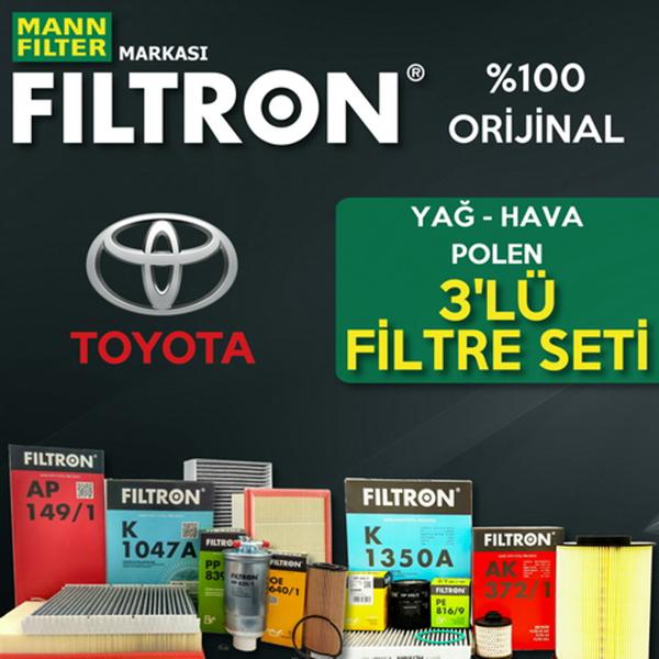 Toyota Corolla 1.6 Filtron Filtre Bakım Seti 2009-2018 FILTRON Marka