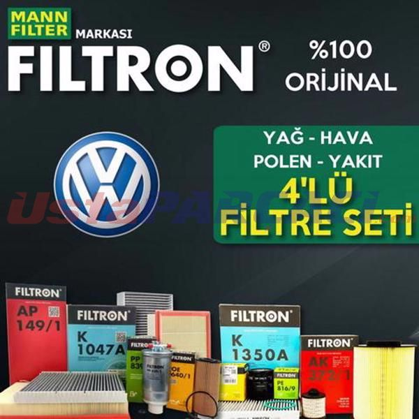 Vw Caddy 1.6 Tdı Filtron Filtre Bakım Seti (2010-2015) UP463828 FILTRON