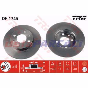Fiat Panda 1.3 D Multijet 2003-2019 Trw Ön Fren Diski 2 Adet UP1298906 TRW