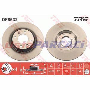 Citroen C4 Ii 1.6 Thp 155 2009-2019 Trw Arka Fren Diski 2 Adet UP1237507 TRW