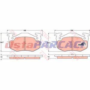 Peugeot 206 Sw 1.6 Hdi 110 2004-2019 Trw Arka Fren Balatası UP1210694 TRW