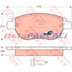 Citroen Xsara Picasso 1.6 Hdi 2005-2011 Trw Ön Fren Balatası UP1290536 TRW