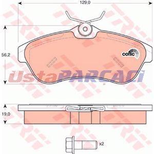 Citroen C3 Pluriel 1.4 Hdi 2004-2019 Trw Ön Fren Balatası UP1191474 TRW