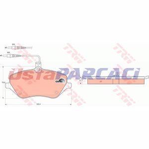 Citroen C5 Iii Break 3.0 V6 2008-2019 Trw Ön Fren Balatası UP1252800 TRW