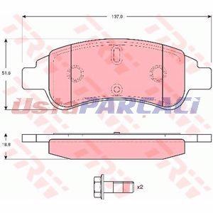 Citroen Xsara Picasso 1.6 Hdi 2005-2011 Trw Ön Fren Balatası UP1259700 TRW