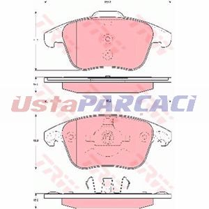 Citroen C4 Picasso I Mpv 2.0 Hdi 165 2010-2013 Trw Ön Fren Balatası UP1175192 TRW