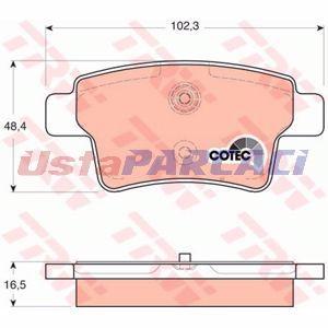 Citroen C4 Grand Picasso I 1.6 Vti 120 2008-2013 Trw Arka Fren Balatası UP1256896 TRW