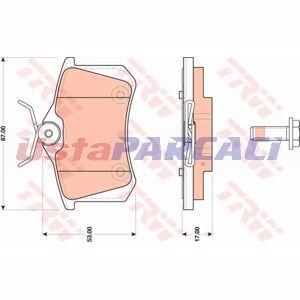 Citroen C3 Picasso 1.4 Vti 95 Lpg 2012-2019 Trw Arka Fren Balatası UP1296109 TRW