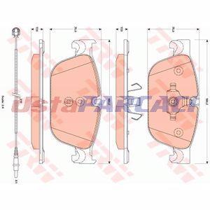 Citroen Ds4 1.6 Thp 200 2011-2015 Trw Ön Fren Balatası UP1287736 TRW