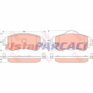 Citroen Ds4 1.6 Hdi 90 2011-2015 Trw Ön Fren Balatası UP1180445 TRW