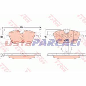 Bmw 2 Coupe 225 D 2015-2019 Trw Arka Fren Balatası UP1188028 TRW