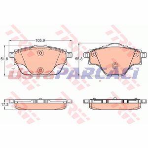 Citroen C4 Grand Picasso Ii 1.6 Vti 120 2013-2019 Trw Arka Fren Balatası UP1294431 TRW