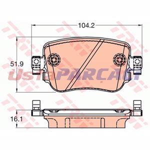 Seat Leon Sc 1.2 Tsi 2014-2019 Trw Arka Fren Balatası UP1206107 TRW